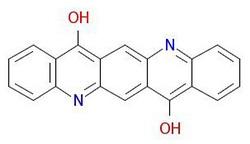 Pigments-violets-19-molekulārā uzbūve